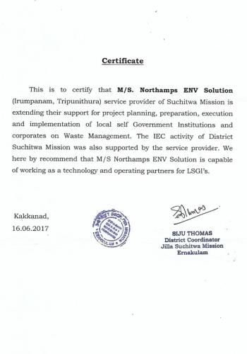 Service Provider of Suchitwa Mission
